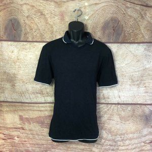 Ted Baker Polo Shirt Blue White Contrast Size 5